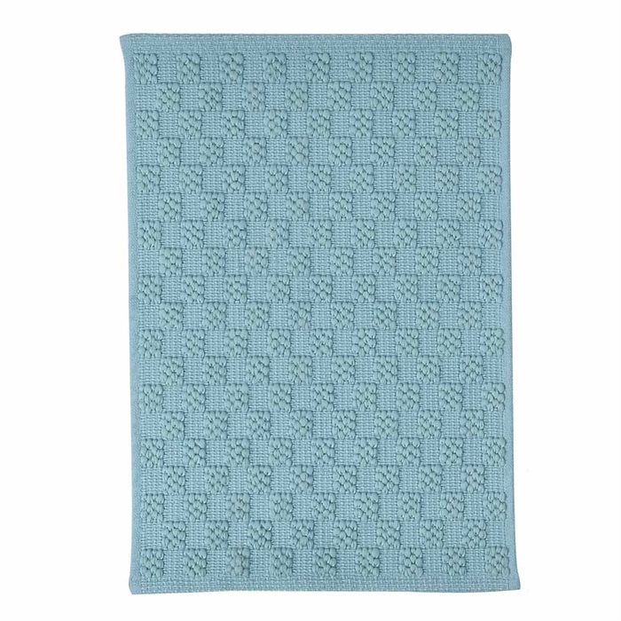 淨色聚酯提花地毯(藍綠色)