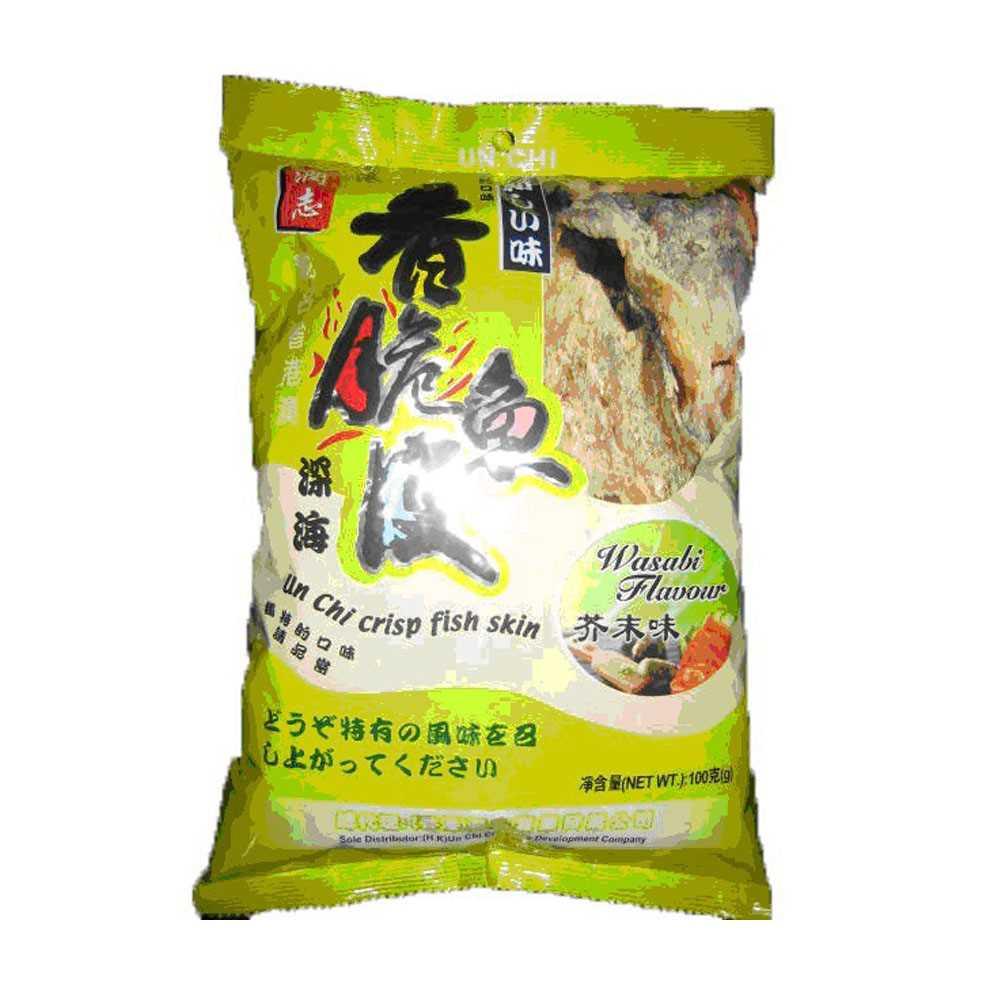 潤志香脆魚皮100克(芥末)